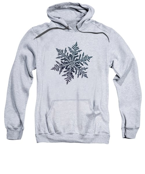 Snowflake Photo - Neon Sweatshirt