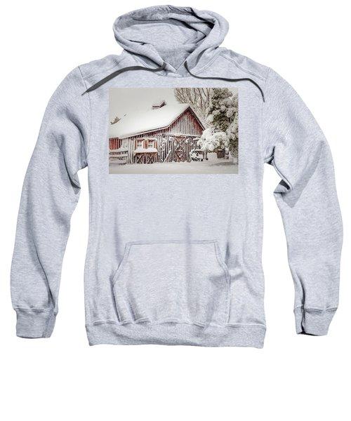 Snowy Country Barn Sweatshirt