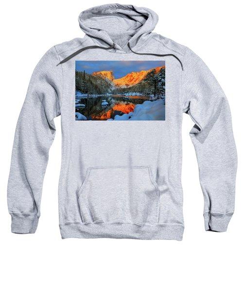 Snowy Dawn At Dream Lake Sweatshirt