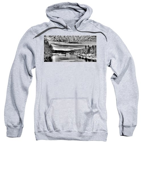 Snowy Day At The Green Bridge Sweatshirt by David Patterson