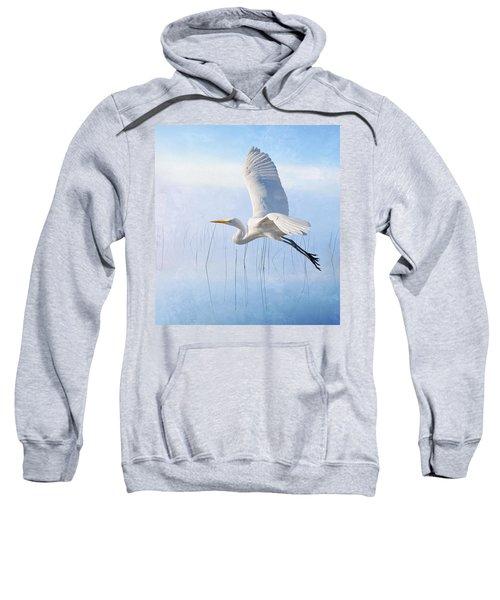 Snowy Egret Morning Sweatshirt