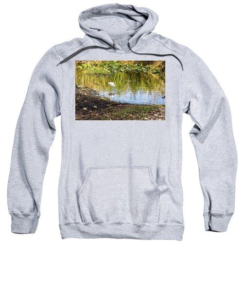 Snowy Egret Reflections Sweatshirt