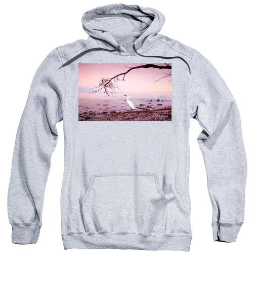 Snowy Egret Solitude Sweatshirt