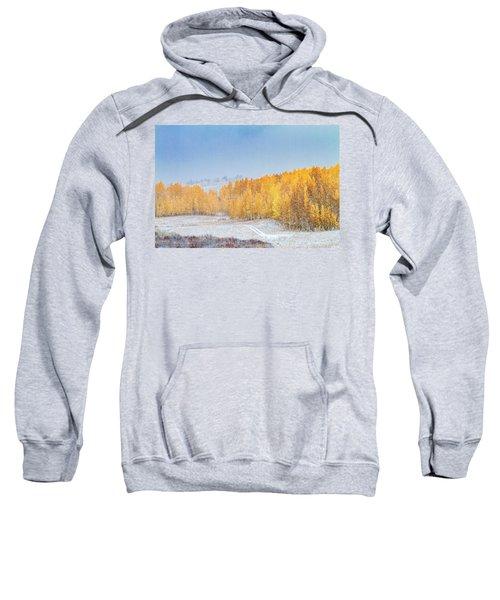 Snowy Fall Morning In Colorado Mountains Sweatshirt