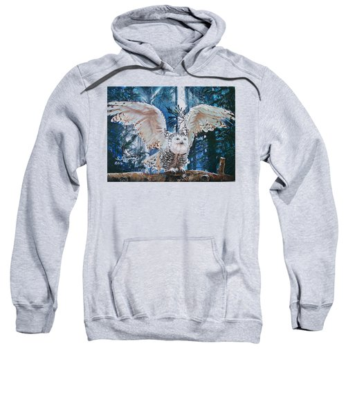 Snowy Owl On Takeoff  Sweatshirt