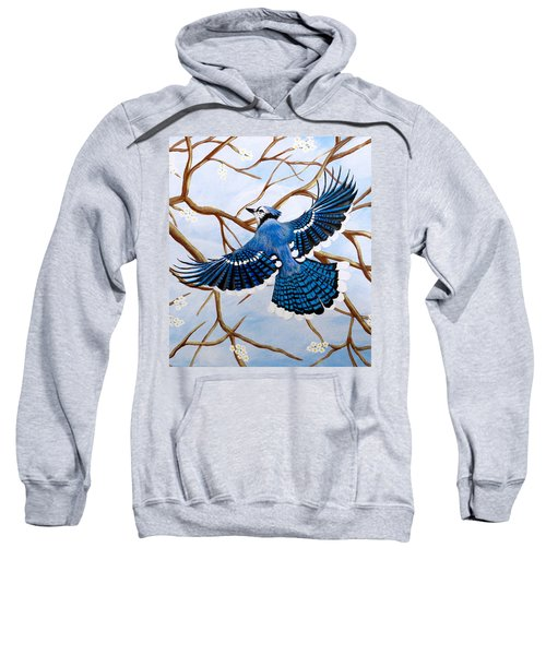 Soaring Blue Jay  Sweatshirt by Teresa Wing