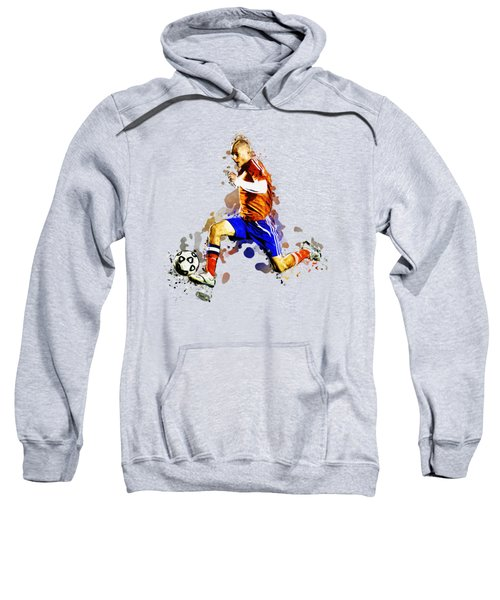Soccer Player Moving The Ball In Stadium Sweatshirt