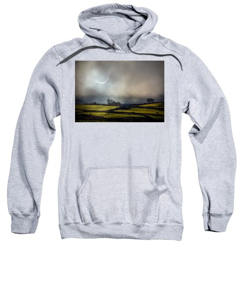 Sweatshirt featuring the photograph Solar Eclipse Over County Clare Countryside by James Truett