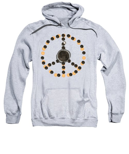 Solar Eclipse Peace On Earth Sweatshirt