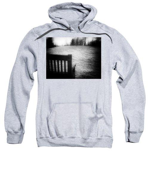 Solitary Bench In Winter Sweatshirt