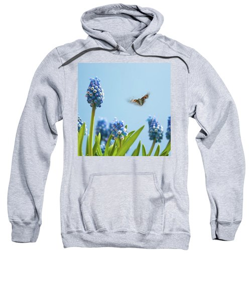 Something In The Air: Peacock Sweatshirt by John Edwards