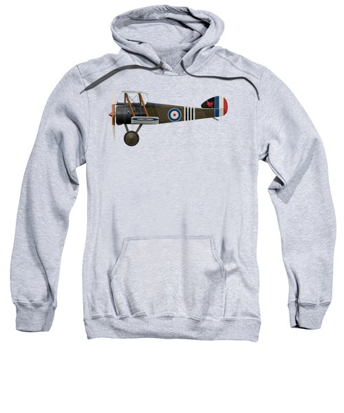 Sopwith Camel - B6313 June 1918 - Side Profile View Sweatshirt by Ed Jackson