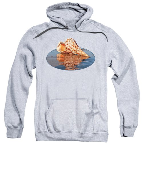 Sounds Of The Ocean - Trumpet Triton Seashell Sweatshirt by Gill Billington