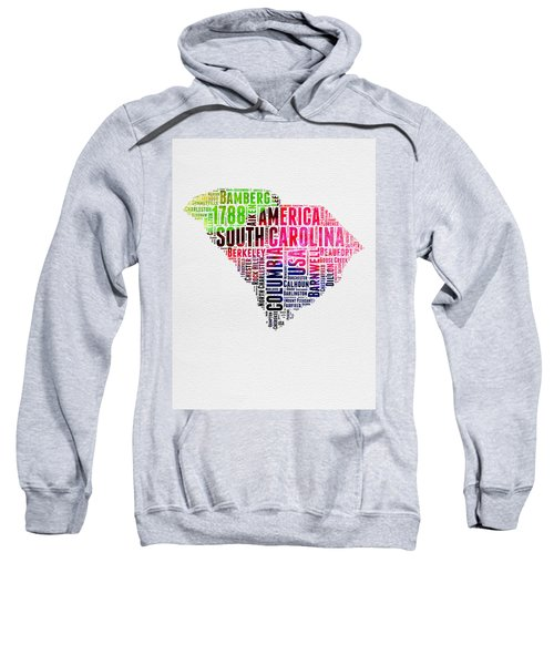 South Carolina Watercolor Word Cloud Sweatshirt