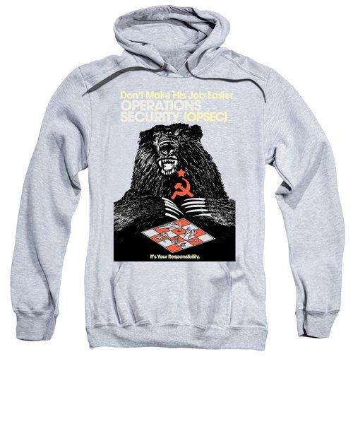 Soviet Threat - Usaf Opsec Vintage 80's Print Sweatshirt
