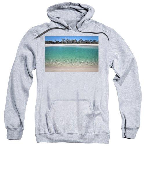 Sparkling Beach Lagoon On Deserted Beach Sweatshirt