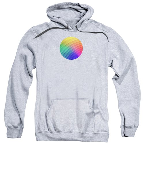 Spectrum Bomb Fruity Fresh Hdr Rainbow Colorful Experimental Pattern Sweatshirt
