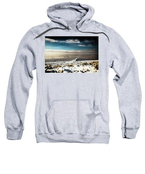 Spiral Jetty In Winter Sweatshirt