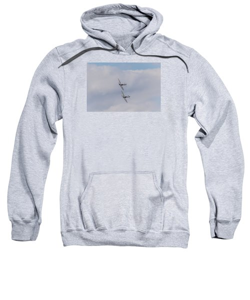 Spitfire Formation Pair Sweatshirt by Gary Eason