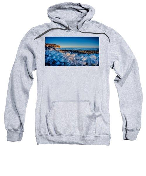 Split Rock Lighthouse With Ice Balls Sweatshirt