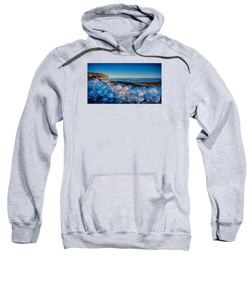 Split Rock Lighthouse With Ice Balls Sweatshirt
