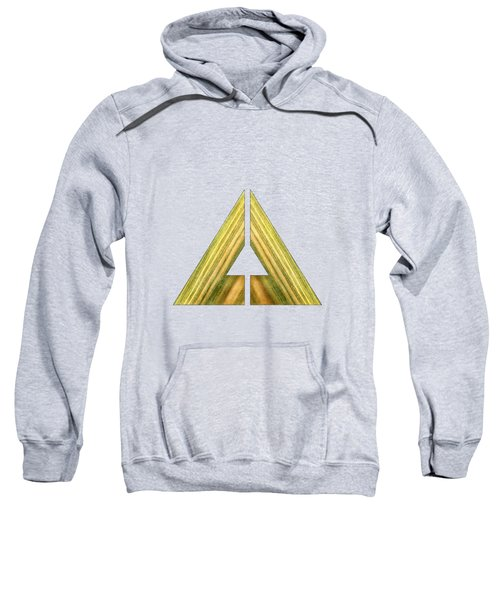 Split Triangle Green Sweatshirt