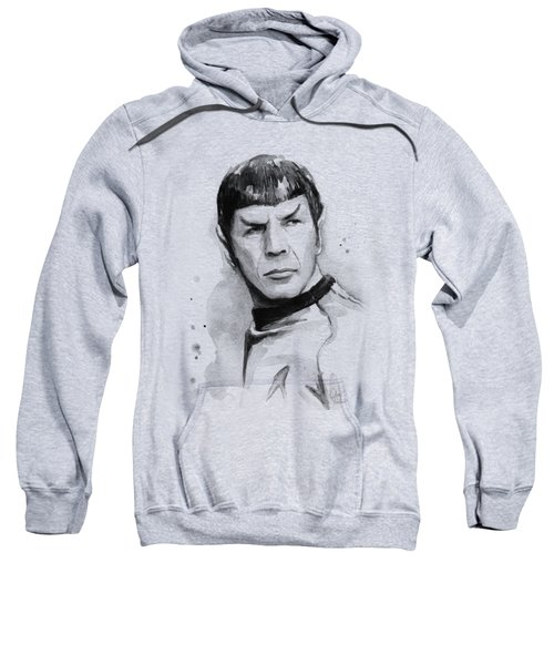 Spock Portrait Sweatshirt by Olga Shvartsur