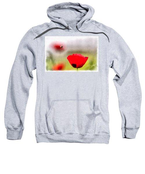 Spring Flowering Poppies Sweatshirt