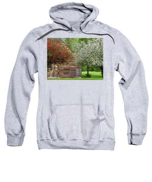 Spring Flowers And The Barn Sweatshirt