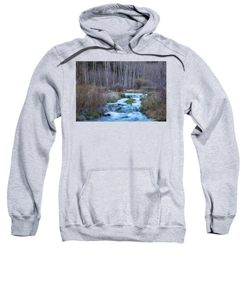 Spring Melt Off Flowing Down From Bonanza Sweatshirt by James BO Insogna