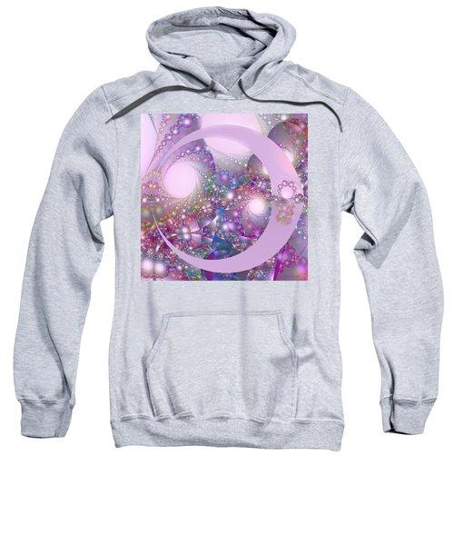 Spring Moon Bubble Fractal Sweatshirt