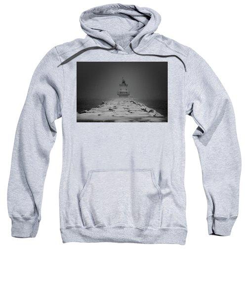 Spring Point Ledge Lighthouse Blizzard In Black N White Sweatshirt