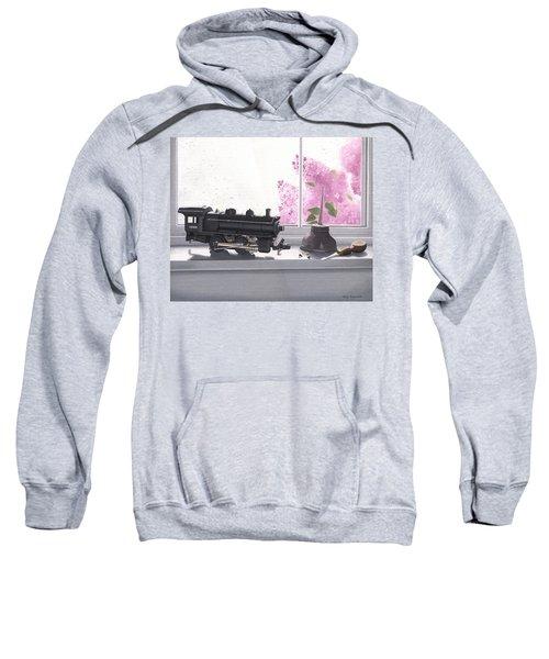 Spring Rain  Electric Train Sweatshirt