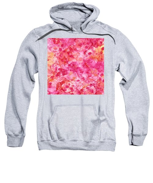 Spring Rose Abstract Sweatshirt