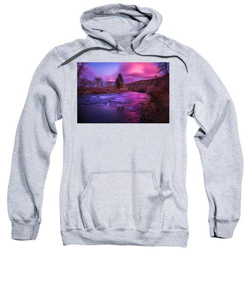 Spring Sunset Along The Truckee River Reno Nevada Sweatshirt