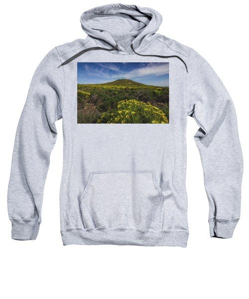 Spring Wildflowers Blooming In Malibu Sweatshirt