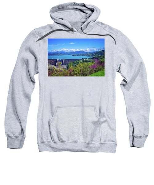 Springtime At Shasta Lake Dam Sweatshirt