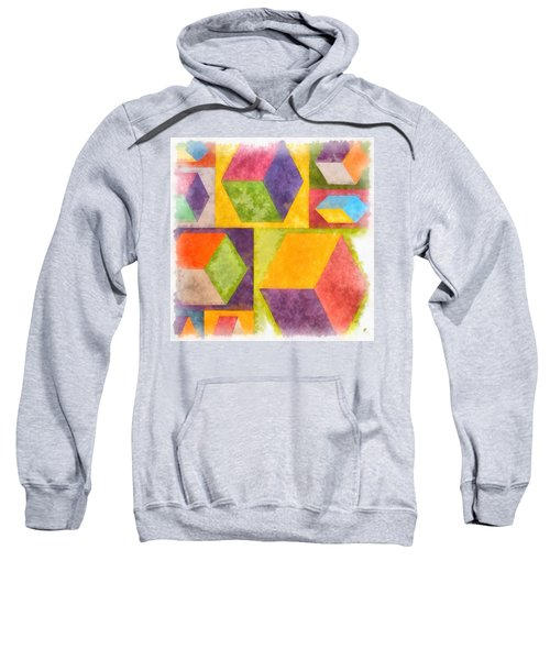 Square Cubes Abstract Sweatshirt
