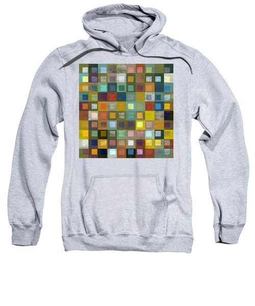 Sweatshirt featuring the digital art Squares In Squares Five by Michelle Calkins