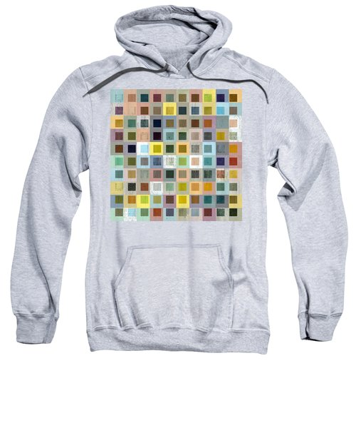 Squares In Squares Three Sweatshirt by Michelle Calkins
