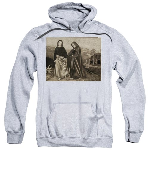 St. John And Blessed Mother At The Tomb Sweatshirt