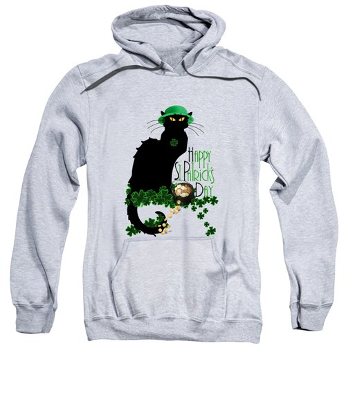 St Patrick's Day - Le Chat Noir Sweatshirt