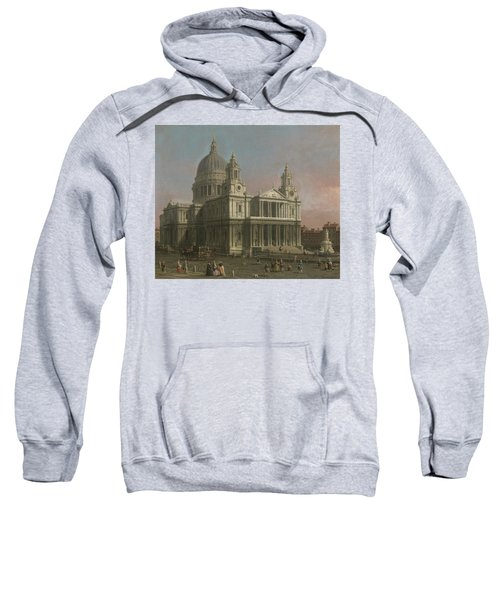 St. Paul's Cathedral Sweatshirt by Giovanni Antonio Canaletto