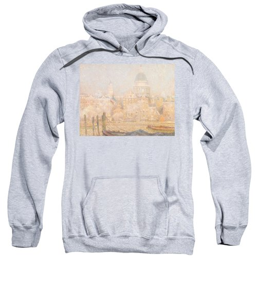 St. Paul's From The River - Morning Sun In Winter Sweatshirt