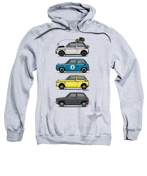 Stack Of Honda N360 N600 Kei Cars Sweatshirt
