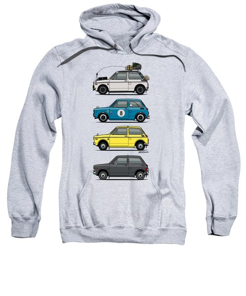 Stack Of Honda N360 N600 Kei Cars Sweatshirt