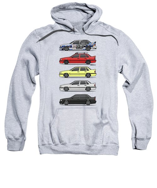 Stack Of Volvo 850r 854r T5 Turbo Saloon Sedans Sweatshirt by Monkey Crisis On Mars