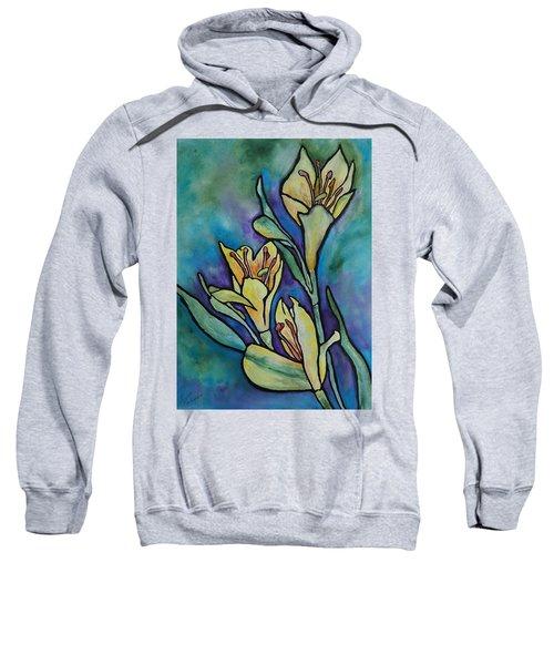 Stained Glass Flowers Sweatshirt