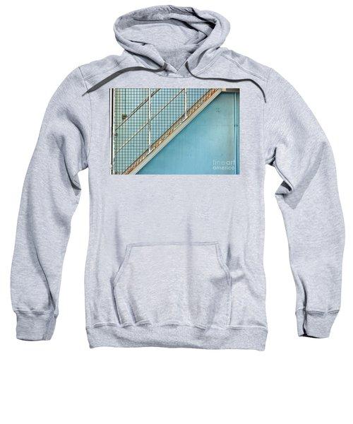 Stairs On Blue Wall Sweatshirt
