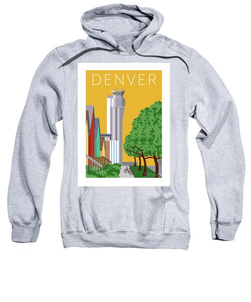 Sweatshirt featuring the digital art Stapleton Summer by Sam Brennan